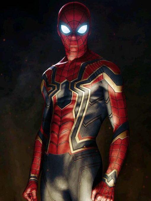 Spiderman Avengers Infinity War Leather Jacket