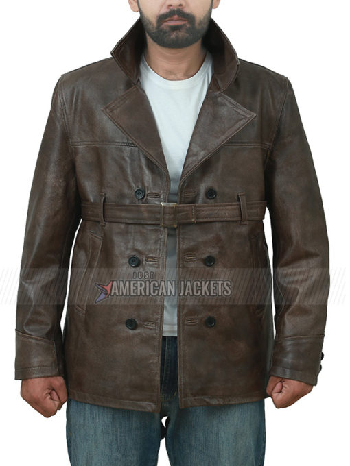 Live By Night Brown Leather Jacket