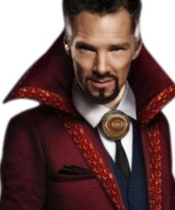 Benedicd Cumberbatch Red Trench Coat
