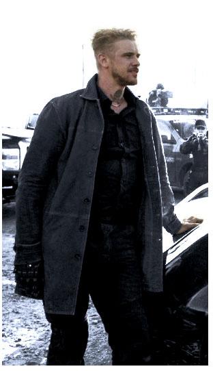 Donald Pierce Logan Boyd Holbrook brown Coat