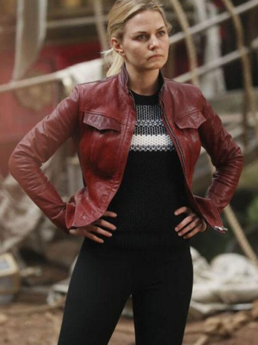 Emma Swan Jennifer Morrison Once Upon A Time Season 6 Red Jacket