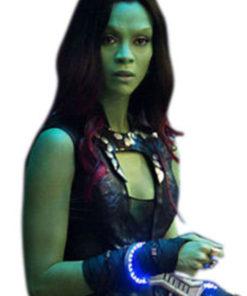 Gamora Zoe Saldana Black Leather Vest