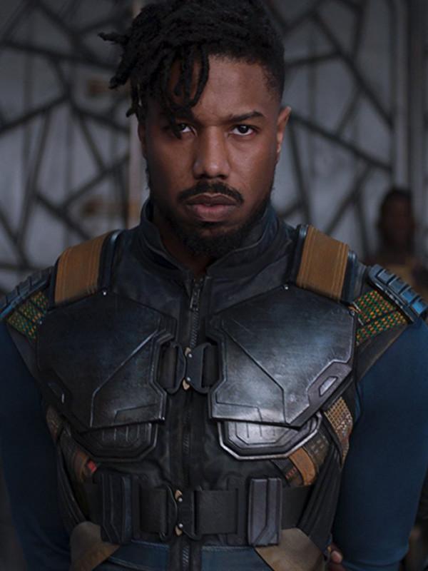 542019e6ed0cfc Black Panther Michael B Jordan Vest - Just Americaon Jackets