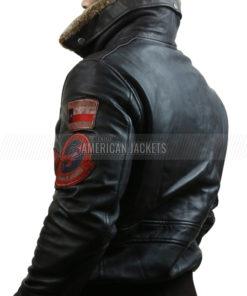 Top Gun Bomber Flight Leather Jacket