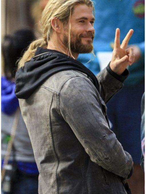 Chris Hemsworth Thor Denim Jacket