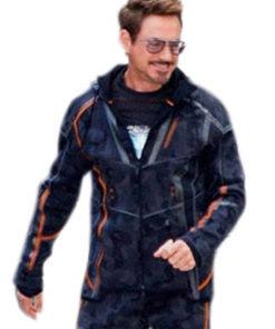 Tony Stark Avengers Infinity War Orange Stripes Jacket