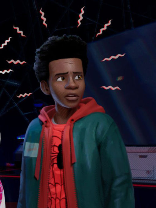Spider Man Into the Spider Verse Miles Morales Hoodie