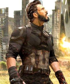 Avengers Infinity War Captain America Leather Jacket