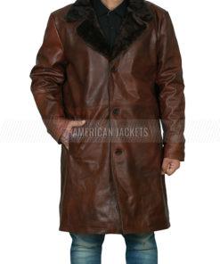 John David Washington BlacKkKlansman Leather Coat