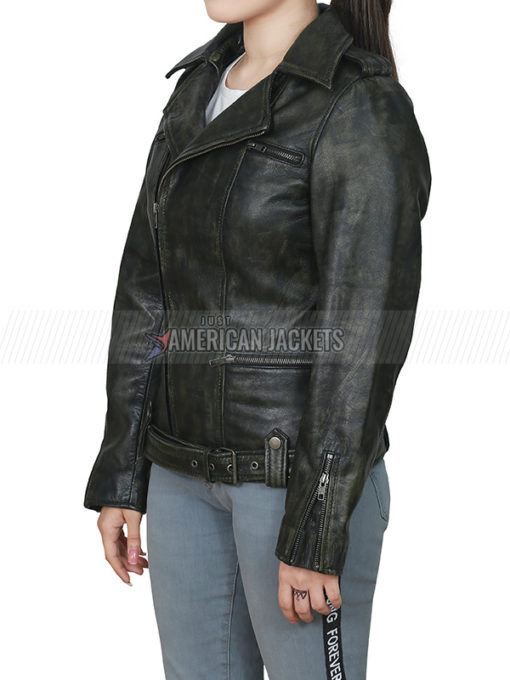 Brie Larson Captain Marvel Leather Jacket