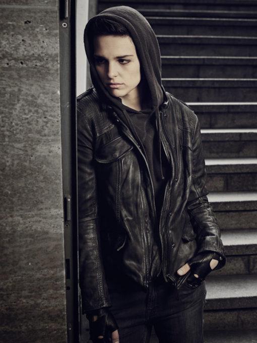 Baldwin Counterpart Black Leather Jacket