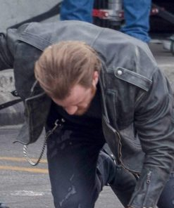 Captain Marvel Robert Kazinsky Black Leather Jacket