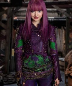 Descendants 2 Mal Purple Leather Jacket