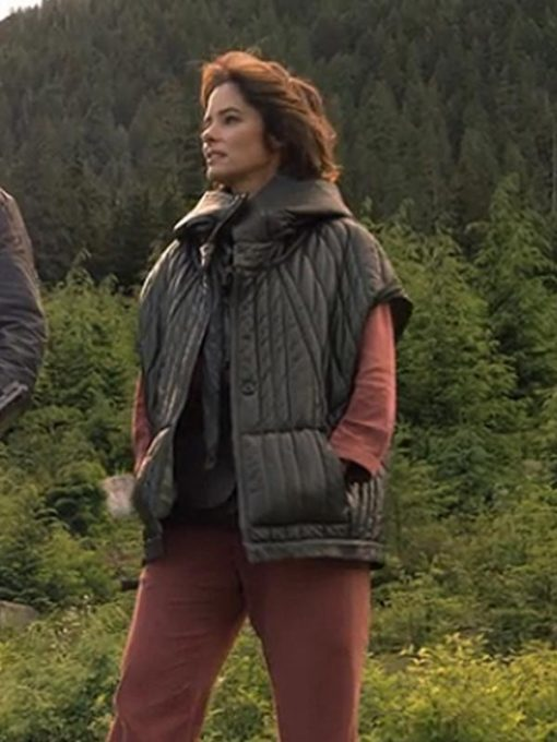 Parker Posey Lost in Space Quilted Hooded Jacket