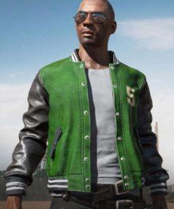 PUBG Green Varsity Jacket