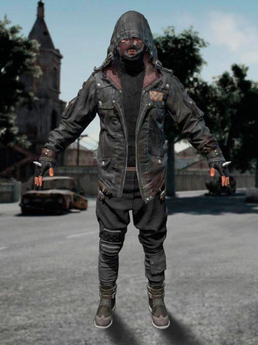 PUBG Hooded Leather Jacket