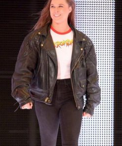Ronda Rousey Royal Rumble Leather Jacket