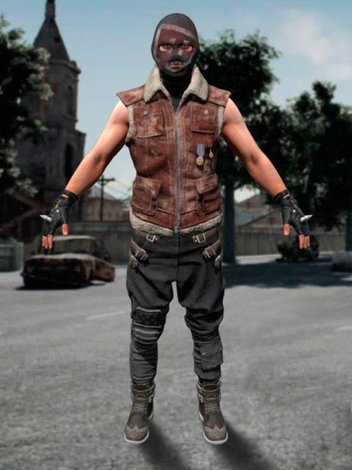 PUBG Brown Suede Leather Vest
