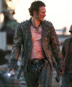 James Franco Future World Warlord Leather Jacket