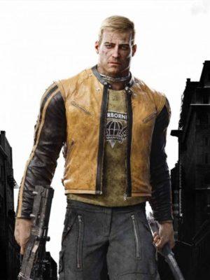 Wolfenstein 2 William BJ Blazkowicz Yellow Jacket