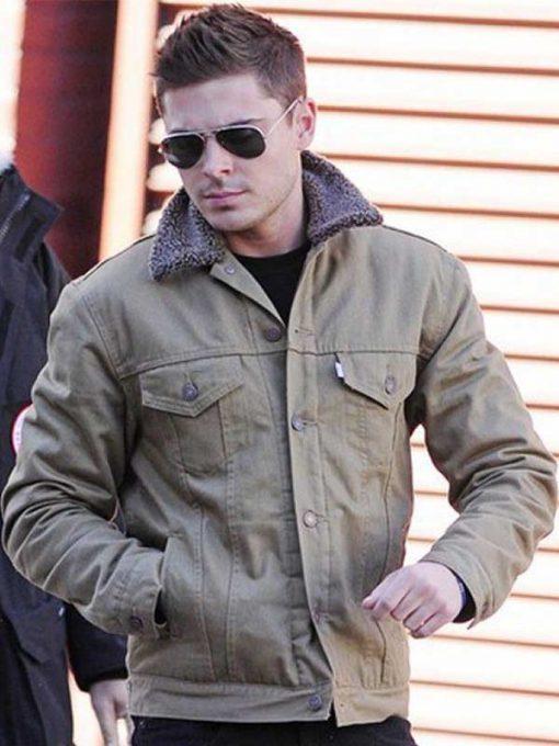 Zac Efron Fur Collar Jacket