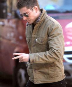 Zac Efron Brown Jacket