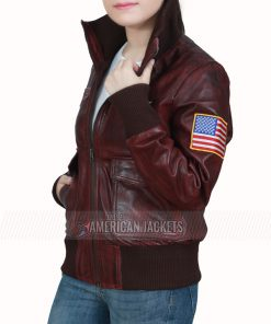 captain marvel brown bomber jacket