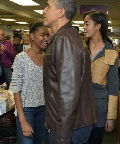 Barak Obama Brown Jacket
