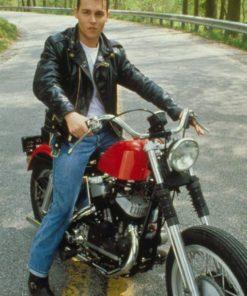 Johnny Depp Cry Baby Black Leather Jacket
