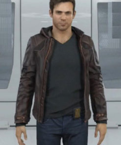 Gavin Reed Detroit Become Human Brown Leather Jacket