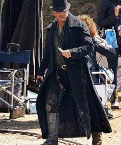 Taboo Tom Hardy Black Wool Long Coat