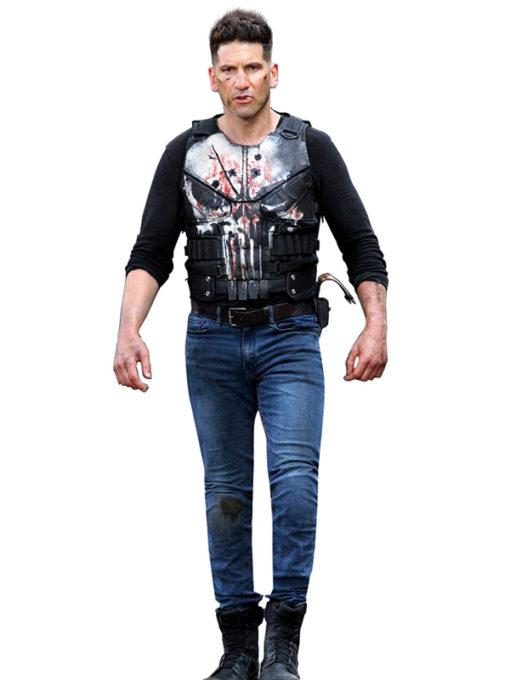 Frank Castle The Punisher Black Leather Vest