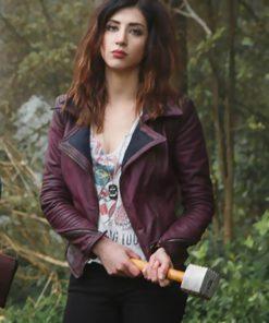 Dana DeLorenzo Ash Vs Evil Dead Red Leather Jacket
