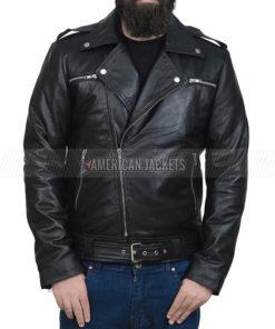 Negan The Walking Dead Black Leather Jacket
