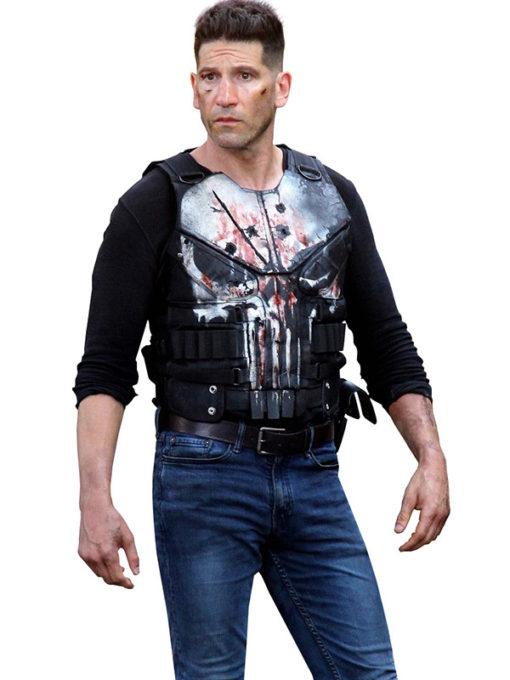 Jon Bernthal The Punisher Frank Castle Black Leather Vest