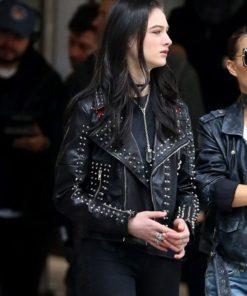 Vox Lux Young Celeste Studded Black Jacket