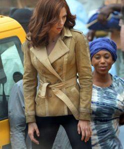 Captain America Civil War Black Widow Cotton Jacket