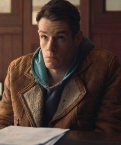 Adam Groff Sex Education Connor Swindells Leather Jacket