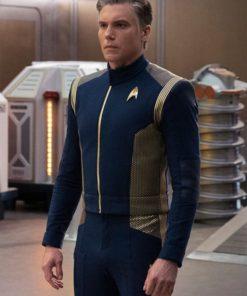 Captain Pike Star Trek Discovery Blue Uniform Jacket