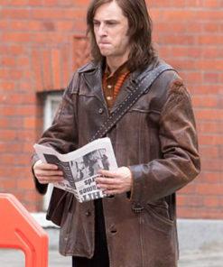 Jamie Bell Rocketman Brown Leather Jacket