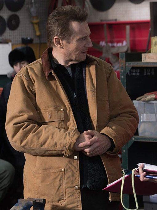 Liam Neeson Cold Pursuit Brown Cotton Jacket