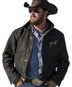 Yellowstone Rip Wheeler Black Cotton Jacket