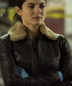 The Good Cop Monica Barbaro Black Leather Jacket