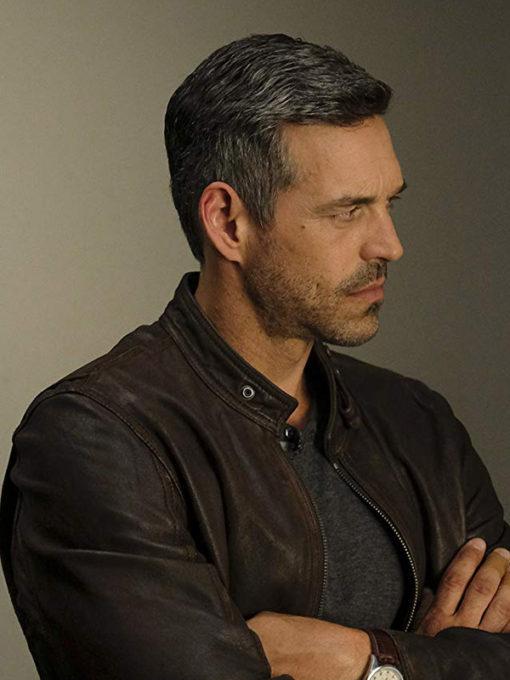 TV Series Take Two Eddie Valetik Distressed Leather Jacket