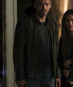 Eddie Cibrian Take Two Brown Distressed Leather Jacket