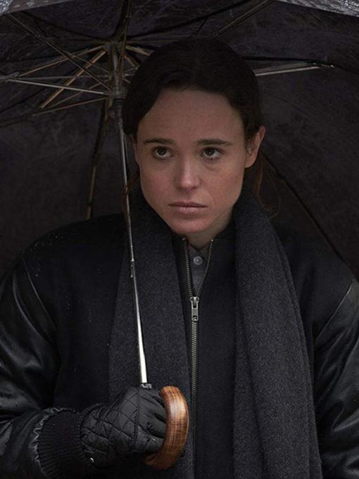 Ellen Page The Umbrella Academy Black Jacket
