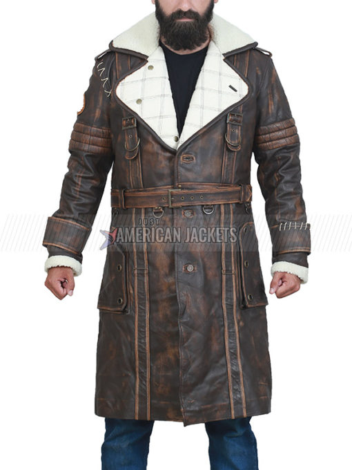 Elder Maxson Fallout 4 Brown Leather Trench Coat