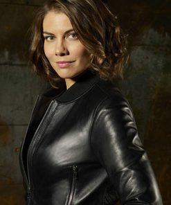 TV Series Whiskey Cavalier Lauren Cohan Leather Jacket