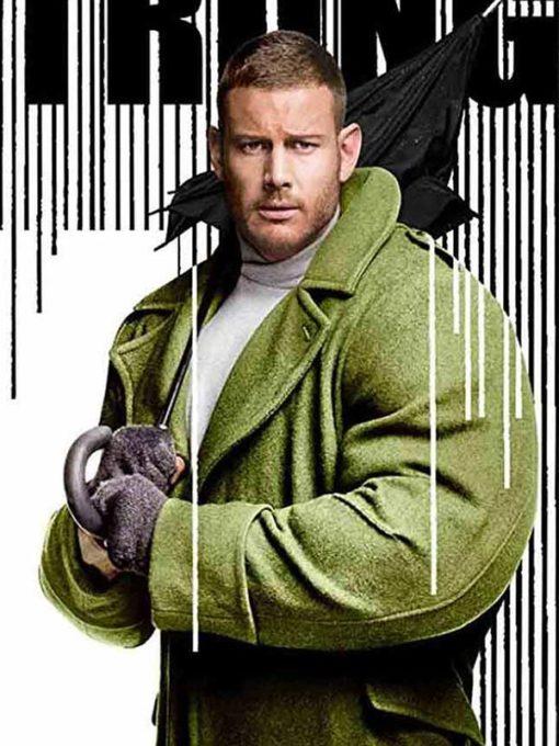 The Umbrella Academy Tom Hopper Green Wool Coat