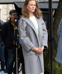 The Goldfinch Nicole Kidman Grey Fleece Coat